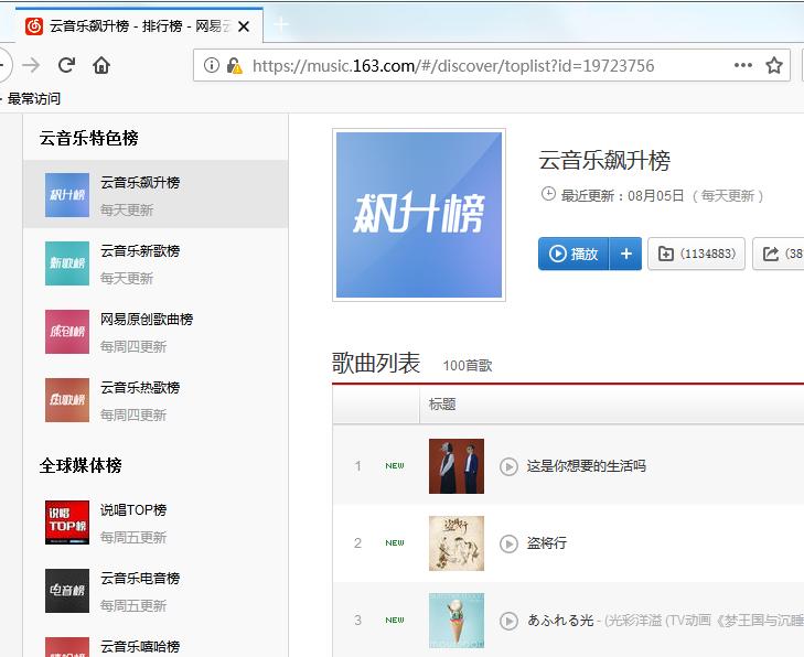 网易云音乐歌曲批量下载,免VIP【支持歌单,排名榜】