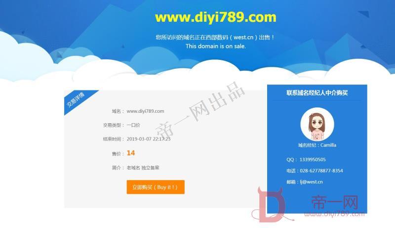 非常好看的网站域名出售模板html5源码